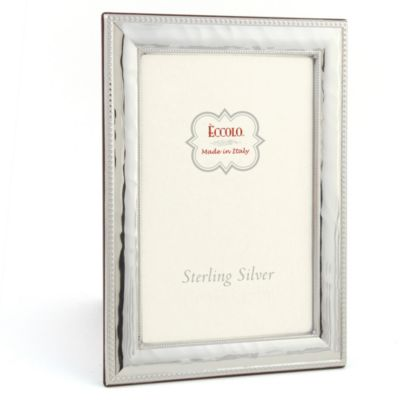 Eccolo™ Hammered Fine Bead 4-Inch x 6-Inch Sterling Silver Picture Frame