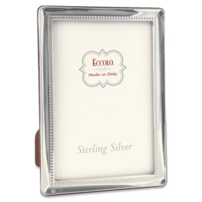 Eccolo™ Oxford 4-Inch x 6-Inch Sterling Silver Frame