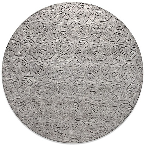 Sculpted Vines 6-Foot Round Rug in Light Blue