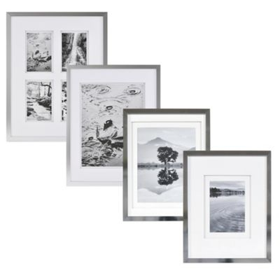Real Simple® Silver Finish Wall Frame with White Double Mat for 5-Inch x 5-Inch Photo
