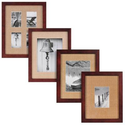 Real Simple® Espresso Wood Wall Frame with Khaki Mat for 8-Inch x 10-Inch Photo