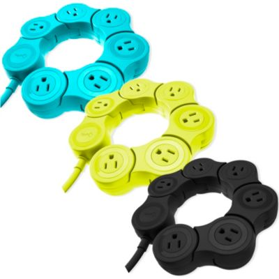 Quirky Pivot Power Strip in Green