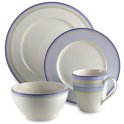 Noritake® Java Blue Swirl 4-Piece Place Setting
