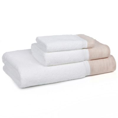 Kassatex 3-Piece Porto Towel Set in Blush