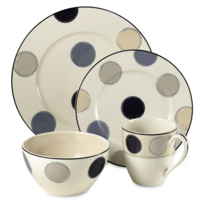 Noritake® Java Graphite 4-Piece Place Setting