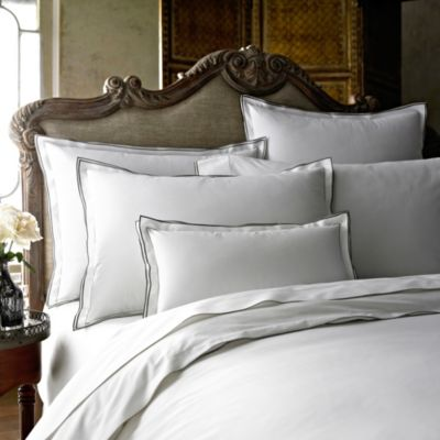 Kassatex Fiesole European Pillow Sham in Charcoal