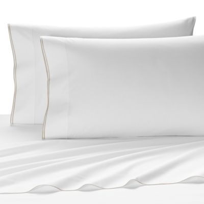 Kassatex Fiesole Twin Flat Sheet in Linen