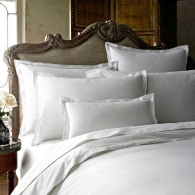 Kassatex Fiesole Italian-Made Twin Duvet Cover in White
