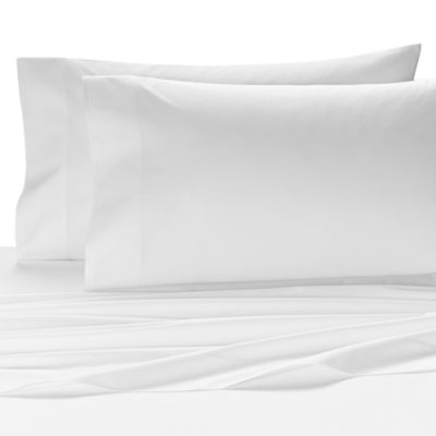 Kassatex Fiesole Italian-Made Twin Flat Sheet in White