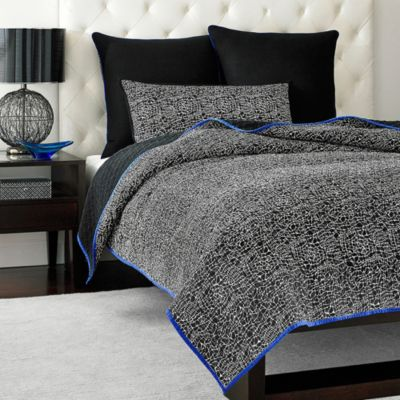 Vince Camuto Milan Abstract Lace Full/Queen Coverlet