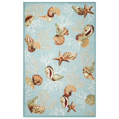 KAS Sonesta Coral Reef 2-Foot 3-Inch x 3-Foot 9-Inch Indoor Rug in Blue