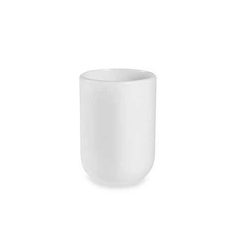 Buy umbra touch bath tumbler in surf blue from bed bath for White bathroom tumbler