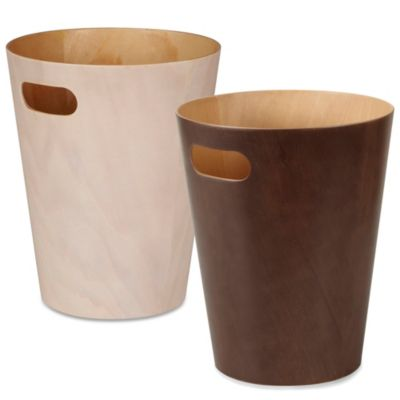 Umbra® Woodrow Wastebasket in Espresso