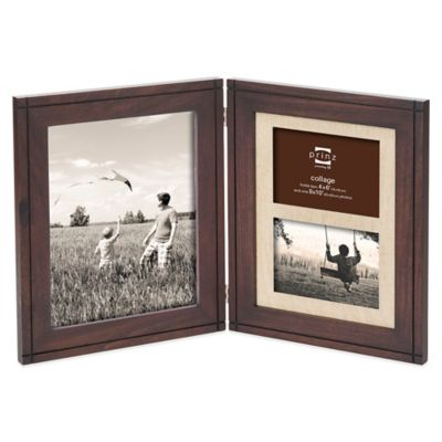 Prinz Dryden Dark Walnut Wood 3-Opening Multi Picture Frame