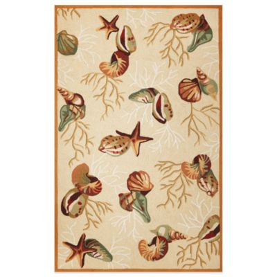 KAS Sonesta Coral Reef 5-Foot x 7-Foot 6-Inch Indoor Rug in Beige