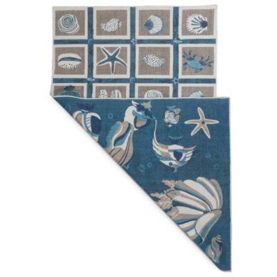 Serafina 2914 Beige/Blue 8-Foot x 10-Foot Oceana Rug