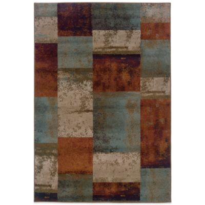 Oriental Weavers Adrienne Blocks 1-Foot 10-Inch x 7-Foot 6-Inch Runner in Terracotta