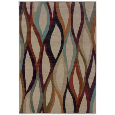 Oriental Weavers Adrienne Prism 5-Foot 3-Inch x 7-Foot 6-Inch Rug in Tan