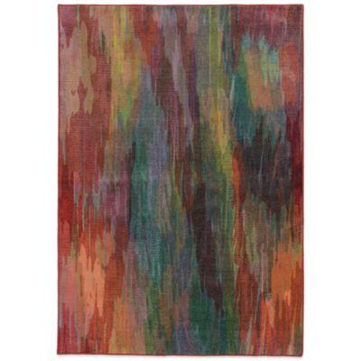 Oriental Weavers Pantone Prismatic Watercolor 6-Foot 7-Inch x 9-Foot 6-Inch Rug in Red