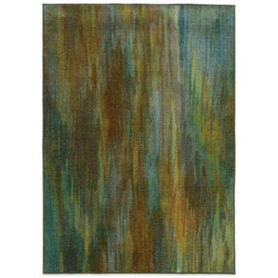 Oriental Weavers Pantone Prismatic Watercolor 3-Foot 5-Inch x 5-Foot 5-Inch Rug in Green