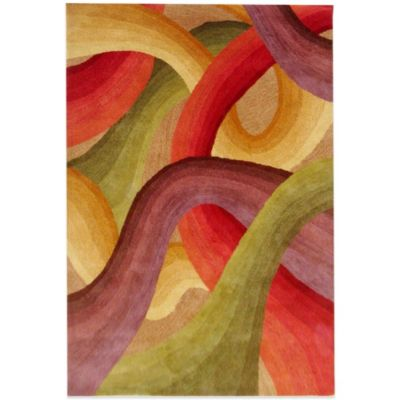 Rizzy Home Colours 5-Foot x 8-Foot Rug in Red