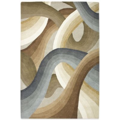Rizzy Home Swirls 8-Foot x 10-Foot Rug in Beige