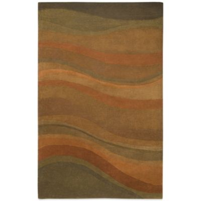 Rizzy Home Colours 5-Foot x 8-Foot CL1783 Rug in Rust