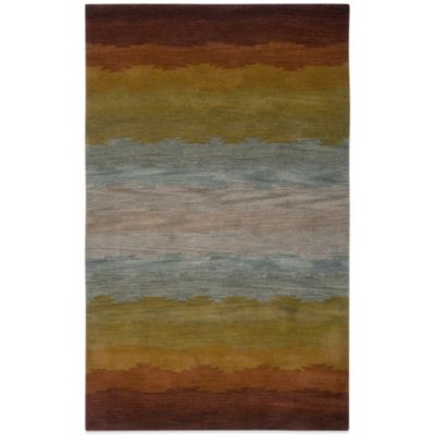 Rizzy Home Colours 5-Foot x 8-Foot Rug in Rust