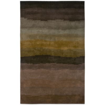 Rizzy Home Colours 5-Foot x 8-Foot Rug in Brown