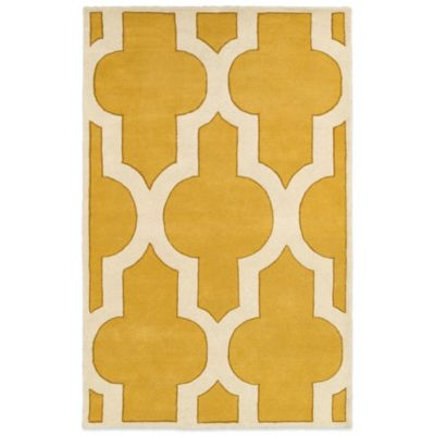Rizzy Home Volare 5-Foot x 8-Foot Rug in Gold