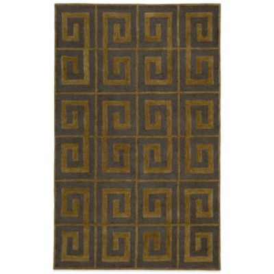 Rizzy Home Vicki Payne Collection Greek Key 3-Foot x 5-Foot Rug in Grey