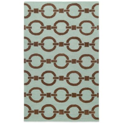 Rizzy Home Vicky Payne Collection Chain 2-Foot x 3-Foot Rug in Blue