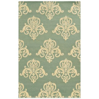 Rizzy Home Vicki Payne Collection Motif 2-Foot x 3-Foot Rug in Light Blue