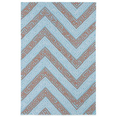 Kaleen Matira Key 5-Foot x 7-Foot 6-Inch Indoor/Outdoor Rug in Light Blue