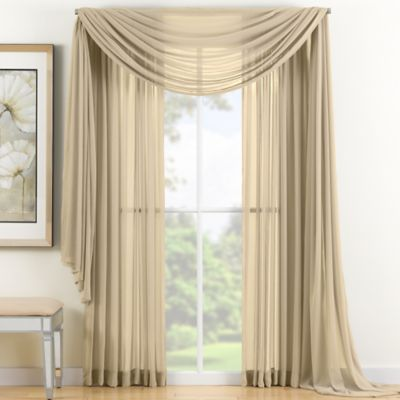 Reverie Sheer Window Scarf Valance in Gold