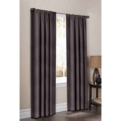 Maytex Mills 108-Inch Wraparound Tallis Curtain Panel Pair in Silver
