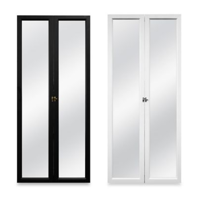 Door Solutions 3-Way Over-the-Door Mirror in Black