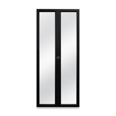 Door Solutions 3-Way Over-the-Door Mirror in Black