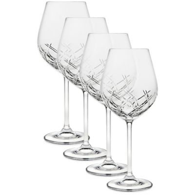 Bevel Crystal Wine Glasses