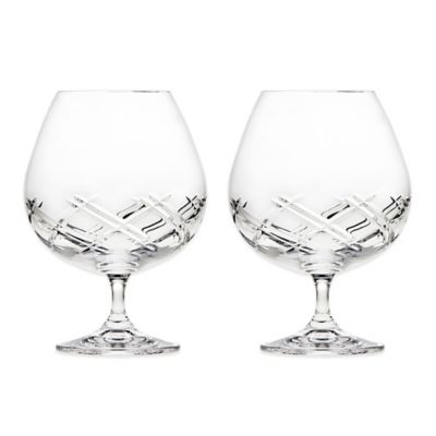 Top Shelf Bevel Crystal Brandy Glasses (Set of 2)