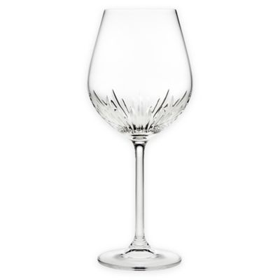 Top Shelf Sculpt Cut Crystal Wine Glasses (Set of 4)