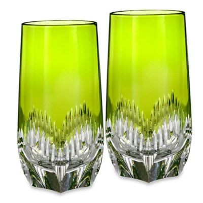 Waterford® Mixology Highball Glasses in Neon Green (Set of 2)
