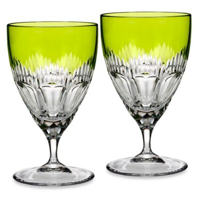Waterford® Mixology All Purpose Glasses in Neon Green (Set of 2)