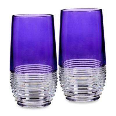 Circon Purple Cocktail Glasses