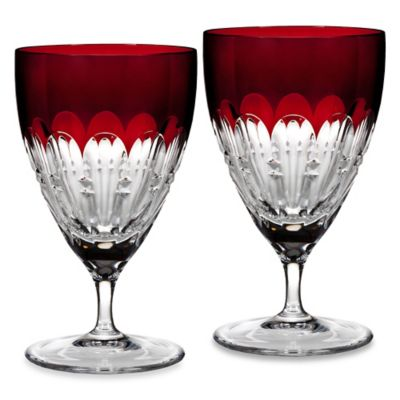 Red Waterford Crystal Glasses