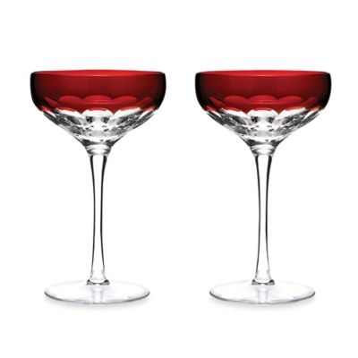 Waterford® Mixology Talon Red Coupe (Set of 2)