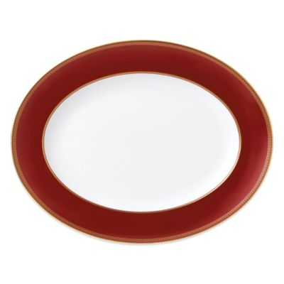 Gold Red Platters