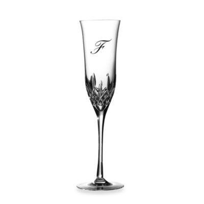 "Waterford® Lismore Essence Monogram Letter ""F"" Champagne Flutes (Set of 2)"