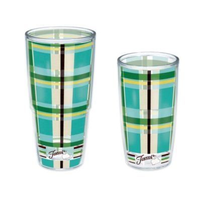 Tervis® Fiesta® Blue Plaid 16 oz. Wrap Tumbler