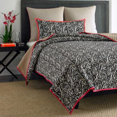 Vince Camuto Key Biscayne Bengal Tiger Full/Queen Coverlet